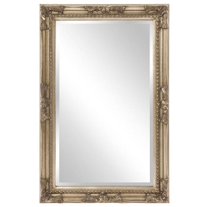 Queen Ann Rectangular Antique Silver Mirror