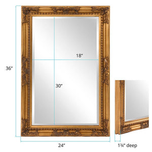Queen Ann Rectangular Gold Mirror Traditional Mirrors Howard Elliott