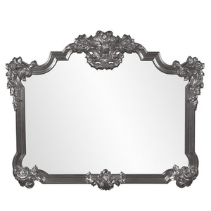Longford Traditional Mirror Antique Mirrors Howard Elliott Glossy Charcoal