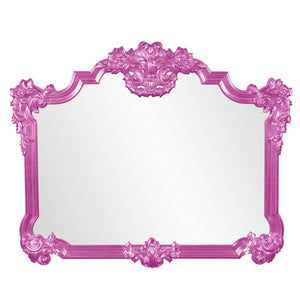 Longford Traditional Mirror Antique Mirrors Howard Elliott Glossy Hot Pink