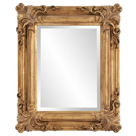 "Edwin Antique Gold Mirror 19""x23""x2"" - Classy Mirrors"