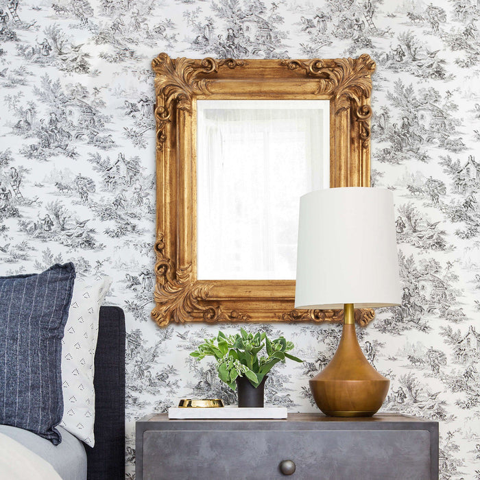 Edwin Antique Gold Mirror