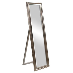 Taylor Bright Silver Cheval Mirror Cheval Mirrors Howard Elliott