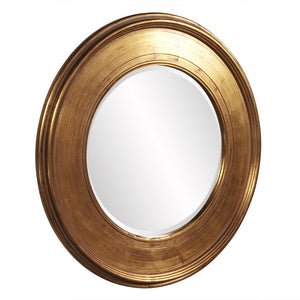Valor Round Gold Mirror Gold Mirrors Howard Elliott