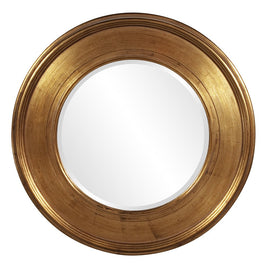 "Valor Round Gold Mirror 37""x2"" - Classy Mirrors"