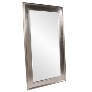 Christian Bright Silver Leaner Mirror Large Mirrors and Leaner Mirrors Howard Elliott