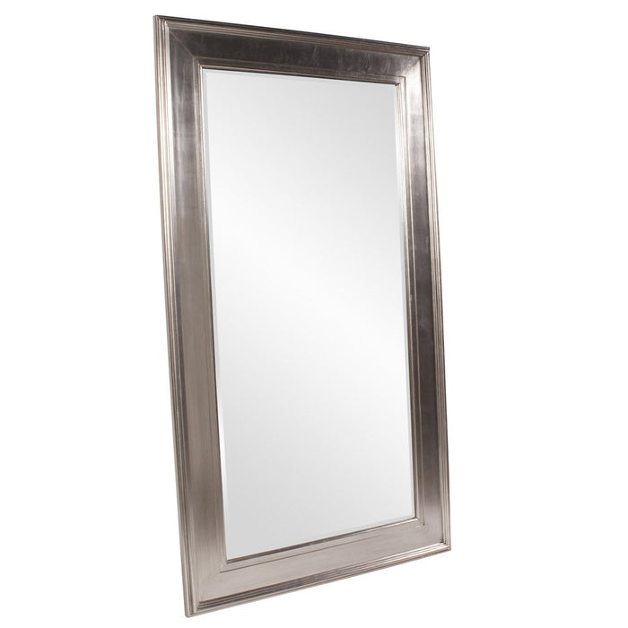 Christian Bright Silver Leaner Mirror