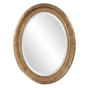 Nero Country Gold Oval Mirror Howard Elliott