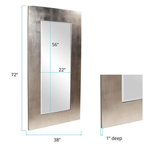 Sonic Contemporary Large Silver Mirror Contemporary Mirrors Howard Elliott