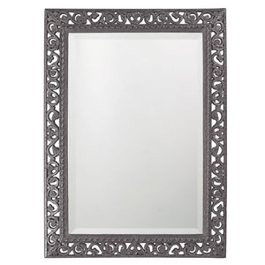 Compton Mirror Traditional Mirrors Howard Elliott Glossy Charcoal Gray