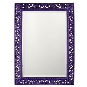 Compton Mirror Traditional Mirrors Howard Elliott Glossy Royal Purple