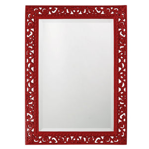 Compton Mirror Traditional Mirrors Howard Elliott Glossy Red