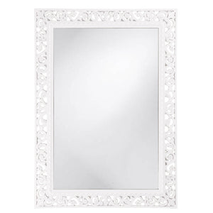 Compton Mirror Traditional Mirrors Howard Elliott Glossy White