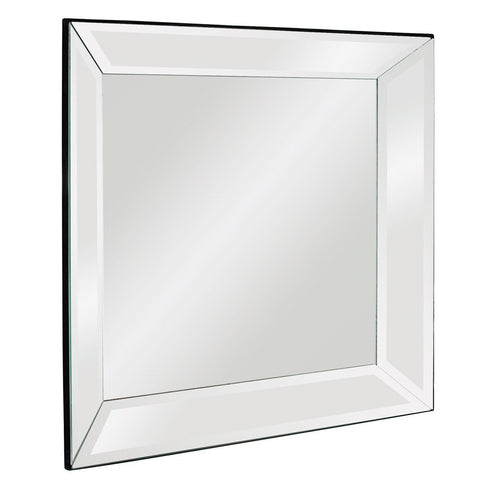 Vogue Mirrored Frame Mirror Square Contemporary Mirrors Howard Elliott