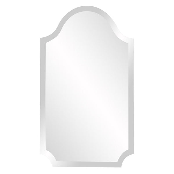 "Frameless Arched Mirror 16""x27""x1"" - Classy Mirrors"