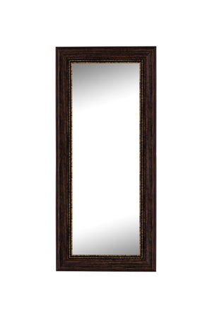 "Oxford Beaded Bronze Mirror Bronze Mirrors Hitchcock Butterfield 26.25"" x 62.25"""