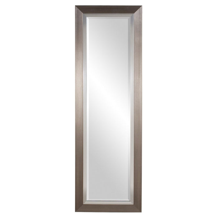 Chicago Tall Brushed Silver Mirror