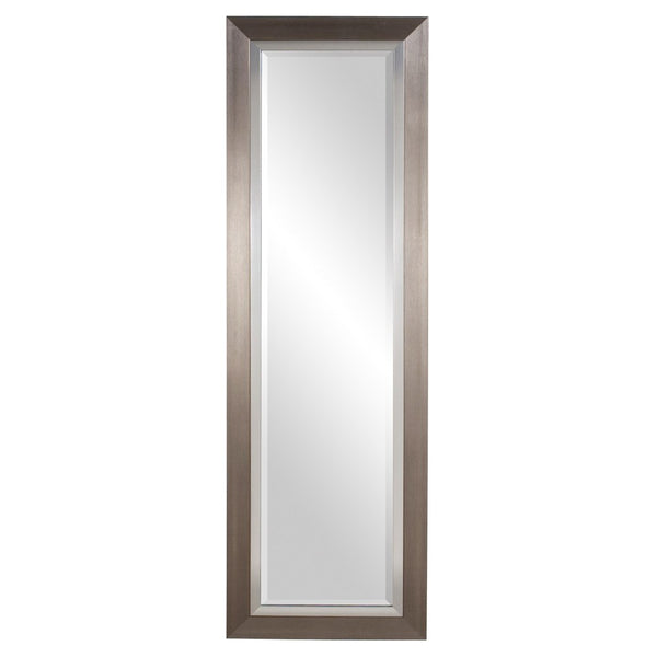 "Chicago Tall Brushed Silver Mirror 18""x54""x1"" - Classy Mirrors"