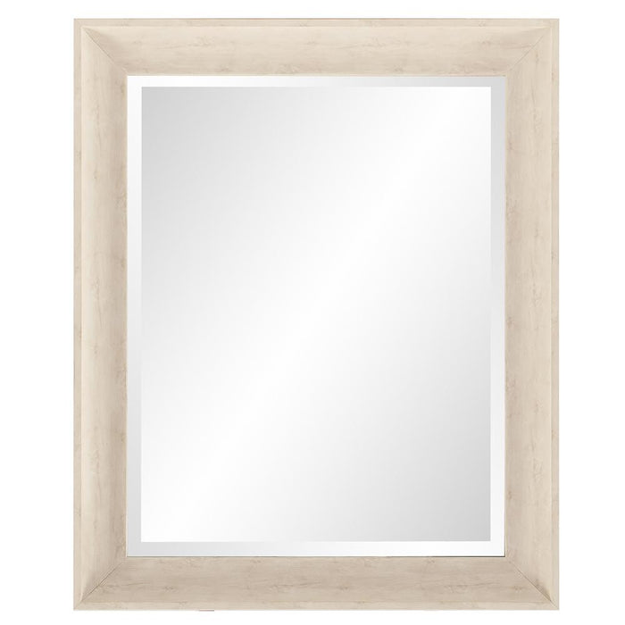 Parker White Rectangle Mirror