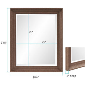 Nolan Rectangle Mirror Brown Mirrors Howard Elliott