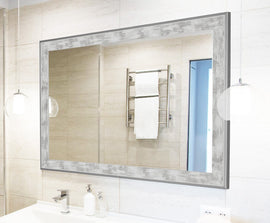 Iconica II Scratched Stone Washed White Mirror