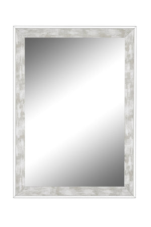 "Iconica II Scratched Stone Washed White Mirror White Mirrors Hitchcock Butterfield 24.75"" x 34.75"""