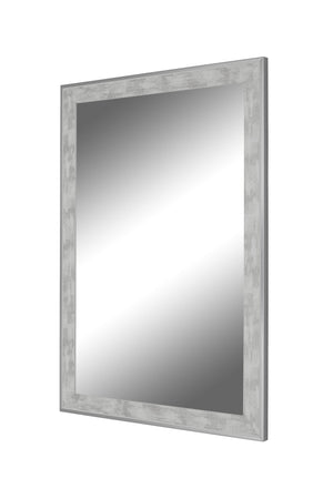 Iconica II Scratched Stone Washed White Mirror White Mirrors Hitchcock Butterfield