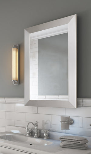 Urban Metro II Brushed Satin Nickel Mirror Bathroom Mirrors Hitchcock Butterfield