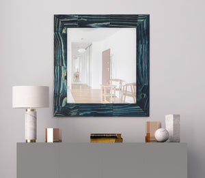 Bighorn Ocean Blue Rustic Mirror Rustic Mirrors Hitchcock Butterfield