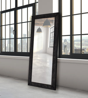 Flat Iron Black Steel Mirror Metal Mirrors Classy Mirrors