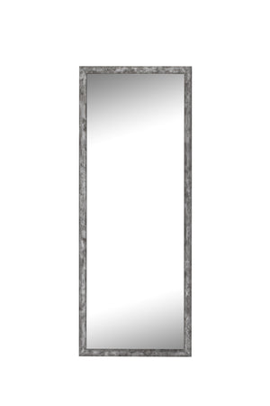 "Forge Hammered Silver Mirror Classy Mirrors 21"" x 57"""