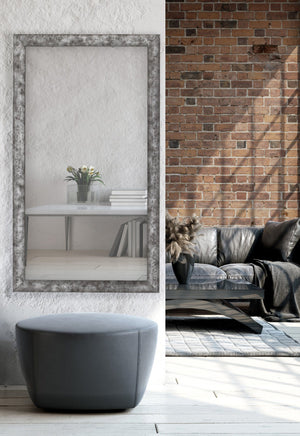 Forge Hammered Silver Mirror Classy Mirrors