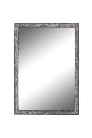 "Forge Hammered Silver Mirror Classy Mirrors 15"" x 33"""