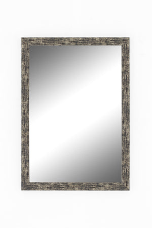 "Coalmine Antique Silver Mirror Contemporary Mirrors Hitchcock Butterfield 15.25"" x 33.25"""