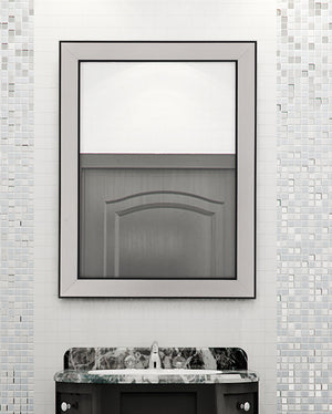 Silhana Brushed Silver and Black Mirror Classy Mirrors