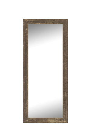"Farmhouse Brown Rustic Mirror Rustic Mirrors Hitchcock Butterfield 23.5"" x 59.5"""