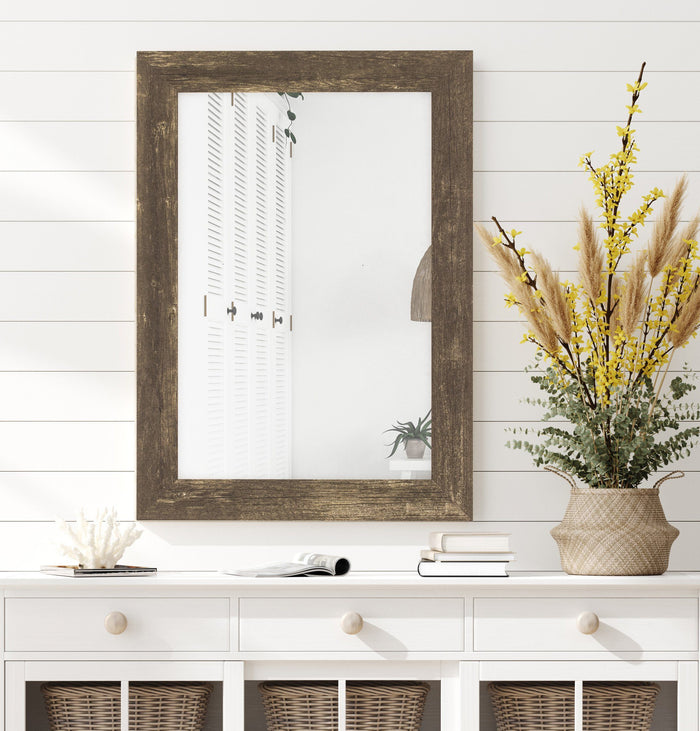 Farmhouse Brown Rustic Mirror