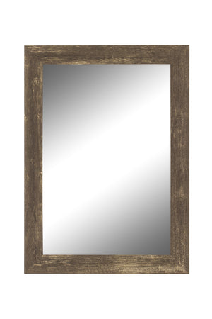 "Farmhouse Brown Rustic Mirror Rustic Mirrors Hitchcock Butterfield 17.5"" x 35.5"""