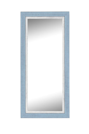 "Topsider II Sky Blue and White Mirror Classy Mirrors 25"" x 61"""