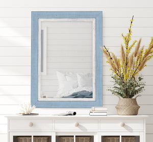 Topsider II Sky Blue and White Mirror Classy Mirrors