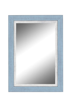 "Topsider II Sky Blue and White Mirror Classy Mirrors 19"" x 37"""