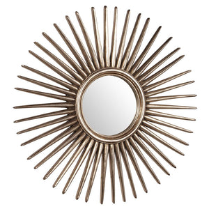 Cascade Silver Starburst Mirror Contemporary Mirrors Howard Elliott