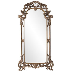 Imperial Mirror Arch Mirrors Howard Elliott Mottled Bronze