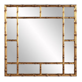 "Country Gold Bamboo Mirror 40""x40""x2"" - Classy Mirrors"