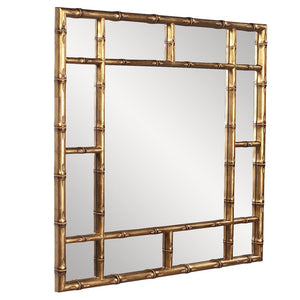 Country Gold Bamboo Mirror Decorative Mirrors Howard Elliott