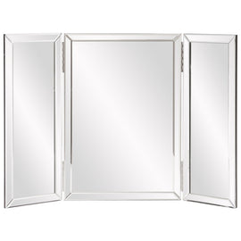 Tripoli Hinged Trifold Vanity Mirror Frameless Mirrors Howard Elliott