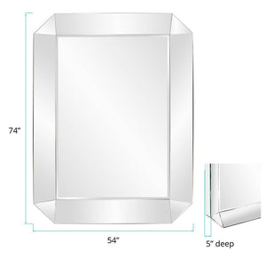"Belfort Concave Octagonal Mirror 54""x74""x2"" Large Mirrors and Leaner Mirrors Howard Elliott"