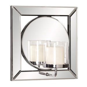 Lula Mirror with Candle Holder Decorative Mirrors Howard Elliott