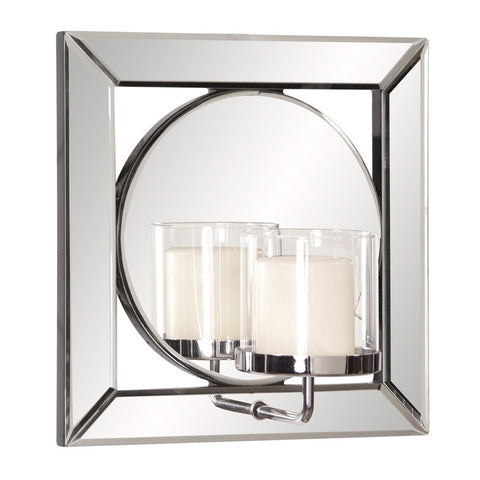 "Lula Mirror with Candle Holder 12""x12""x6.5"" - Classy Mirrors"