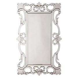 "Rebecca Mirrored Scroll Mirror 29""x47""x1"" - Classy Mirrors"